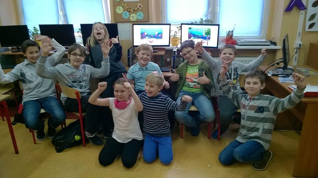 Grupa uczniów