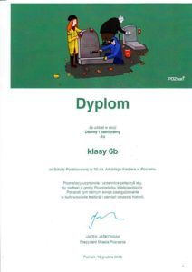 Dyplom dla 6b