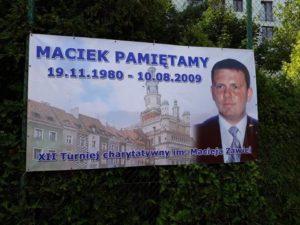 Plakat XIV turnieju charytatywnego im. Macieja Zawiei